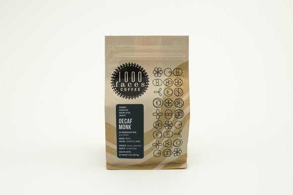 1000 Faces Coffee Decaf Monk