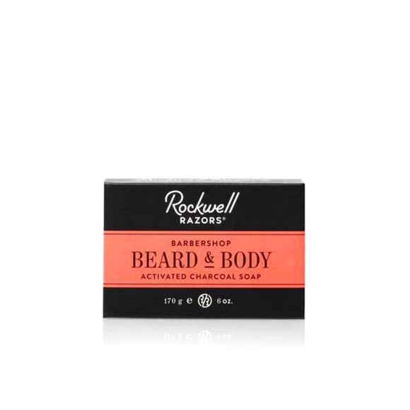 Rockwell Activated Charcoal Beard And Body Soap Barbershop