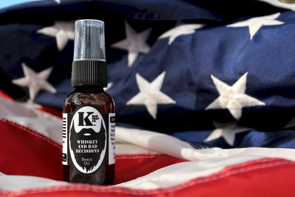 KBARSOAPCO Premium Beard Oil Whiskey And Bad Decisions