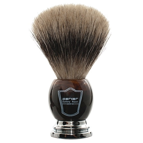 Parker Brush Faux Horn Pure Badger Bristle
