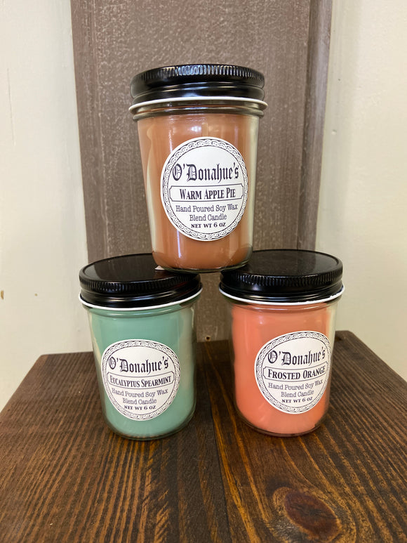 O'Donahue's Jelly Jar Candles