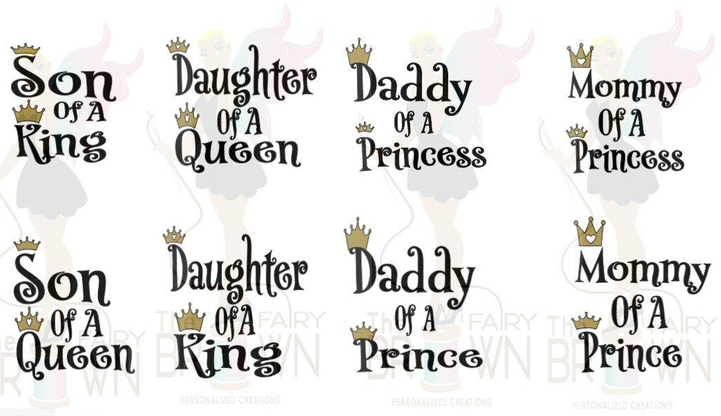 Png Svg Daddy Mommy King Queen Prince Princess