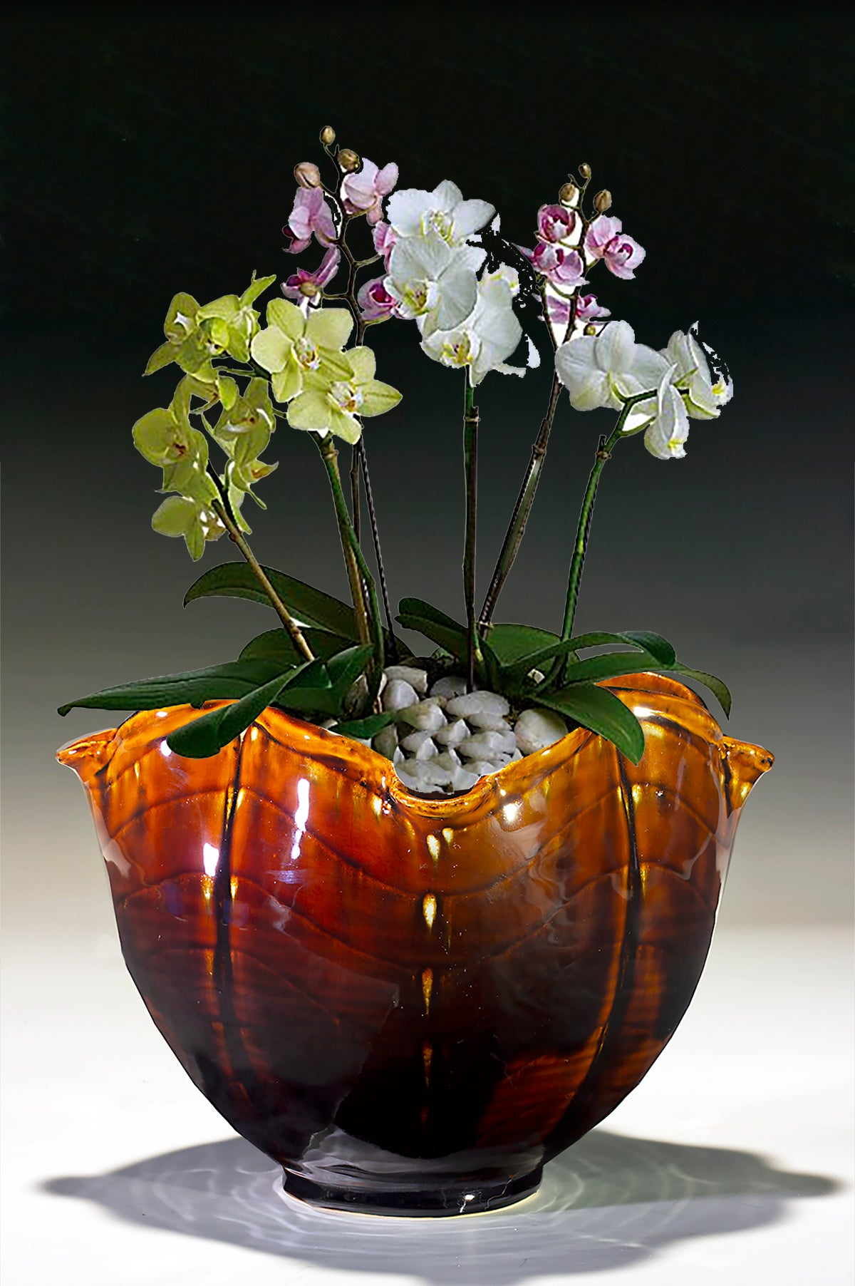 "Orchid Bowl  6"" X 6"""
