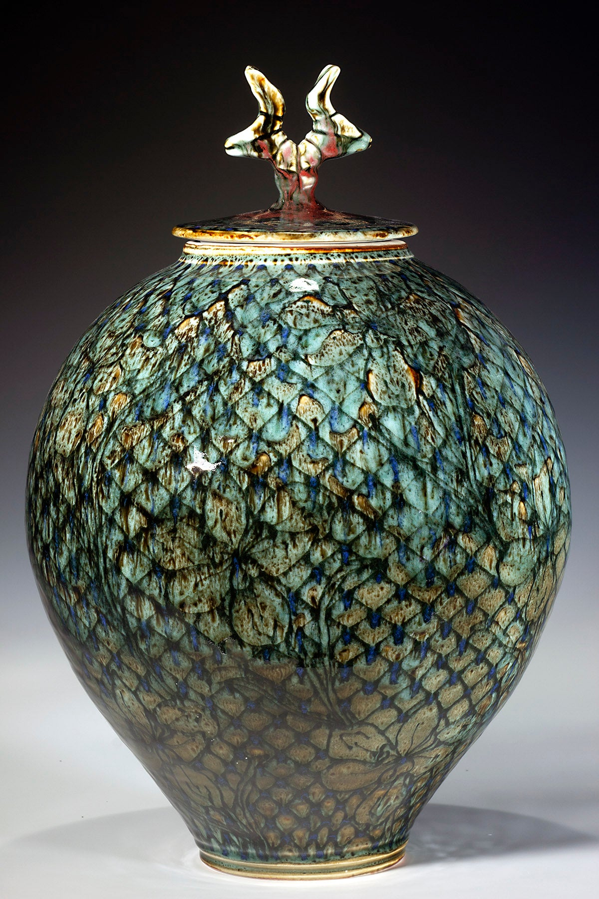 "Large Covered Jar  18"" X 11.5"""