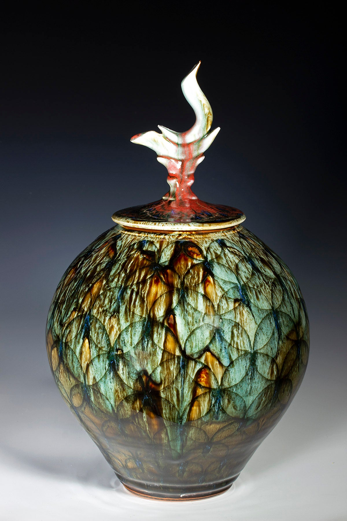 "Covered Jar  14"" X 8.75"""