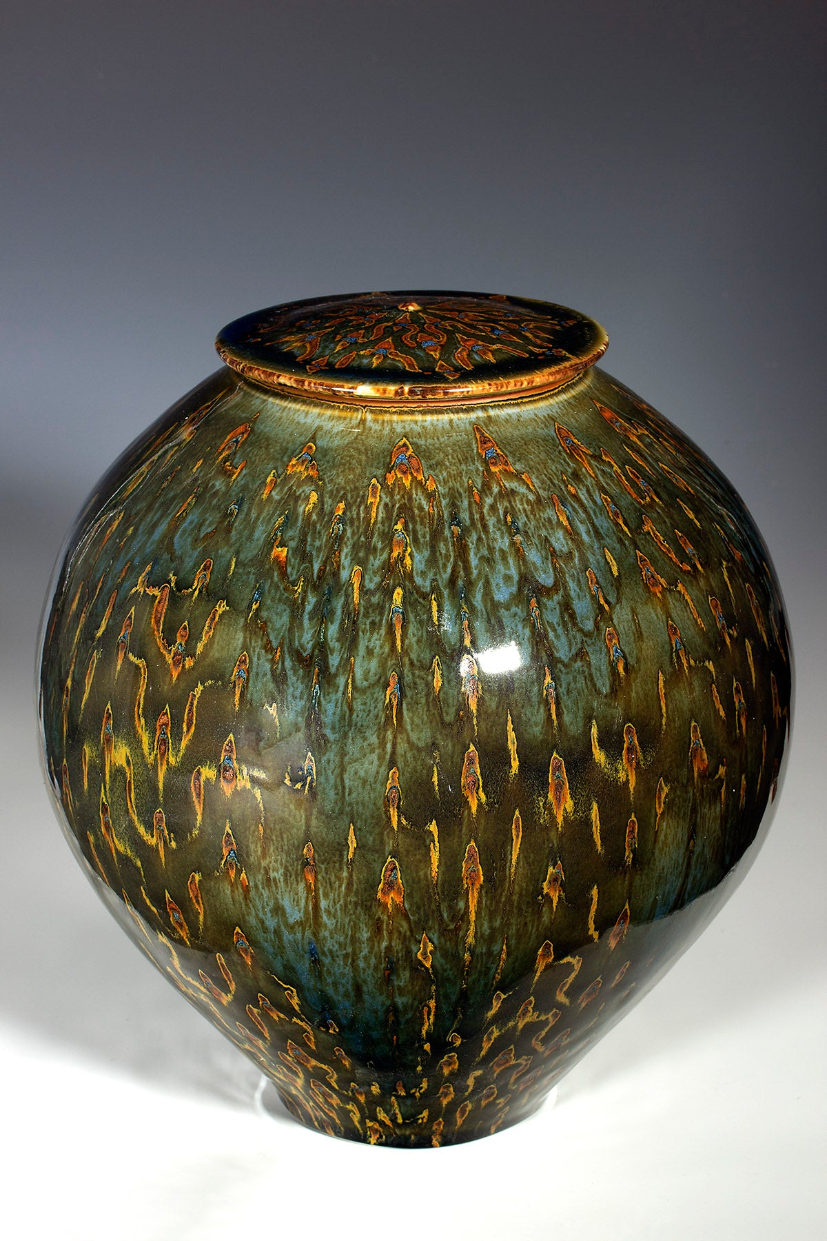 "Covered Jar  10.25"" X 9"""
