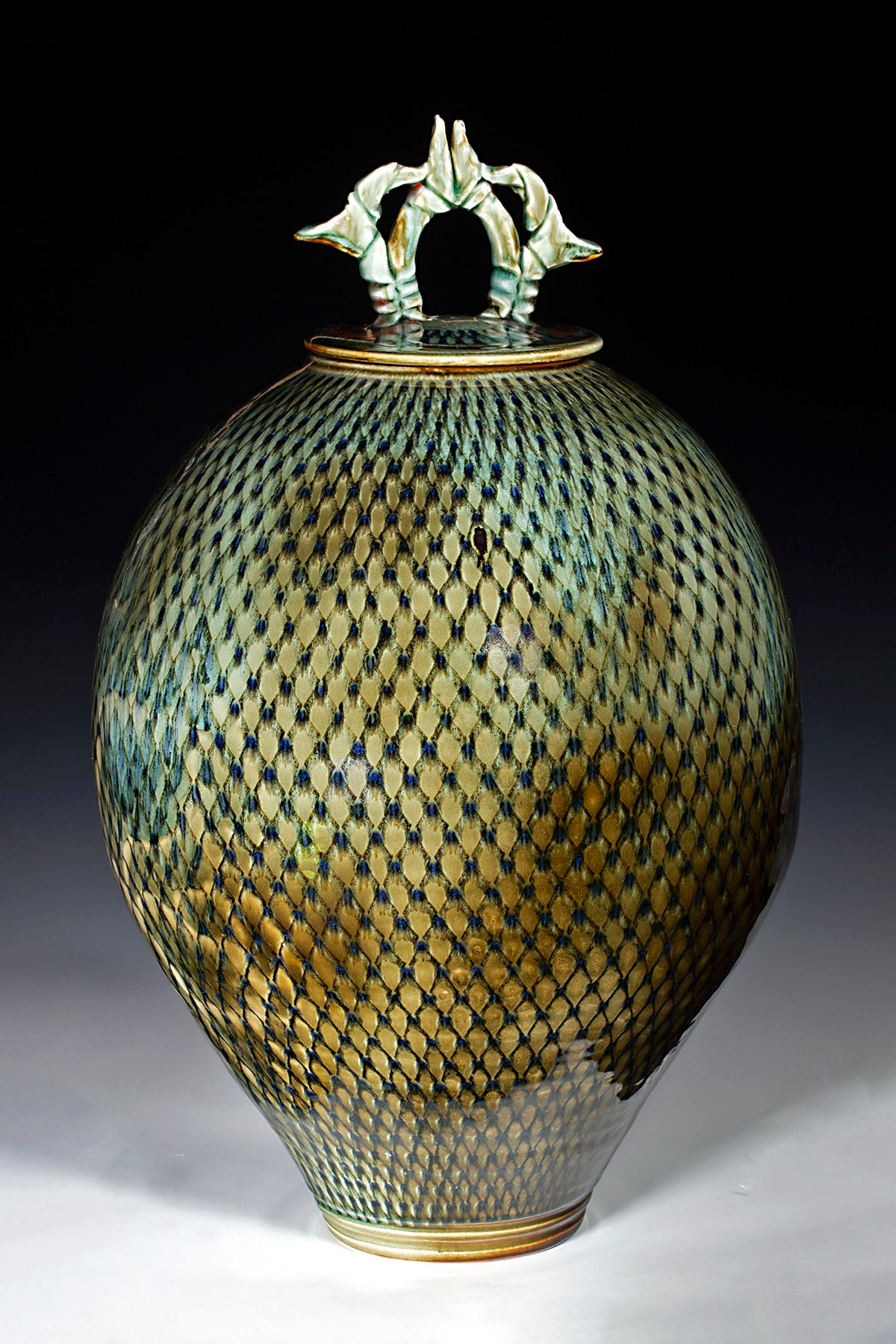 "Large Diamond Jar  21"" X 13"""