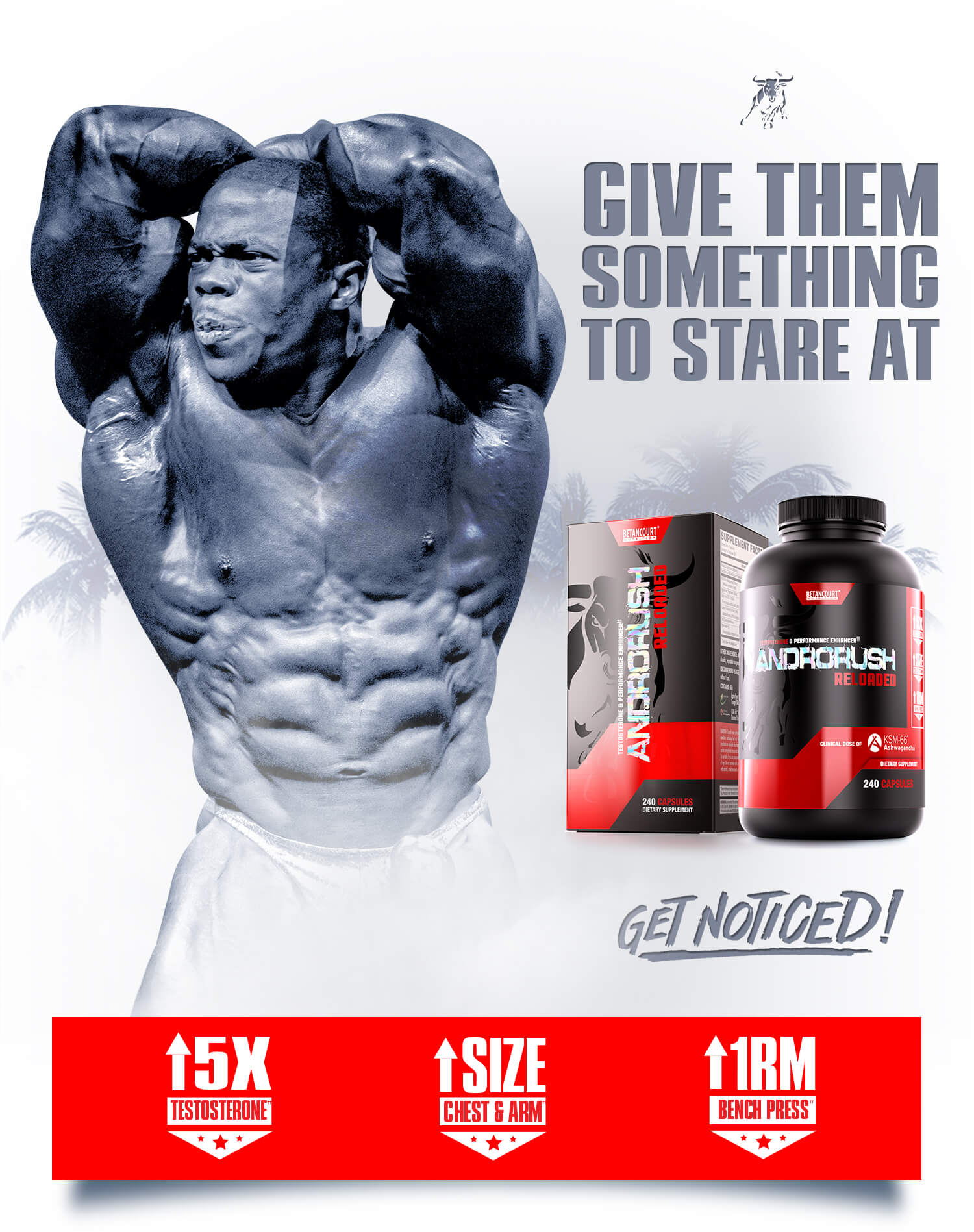 Androrush Caps - Betancourt Nutrition - Testosterone and Performance Enhancer