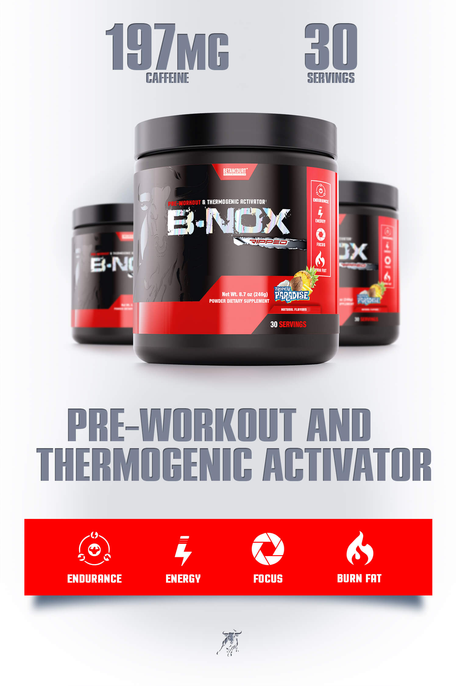 B-NOX Ripped - Betancourt Nutrition - PRE-WORKOUT THERMOGENIC ACTIVATOR