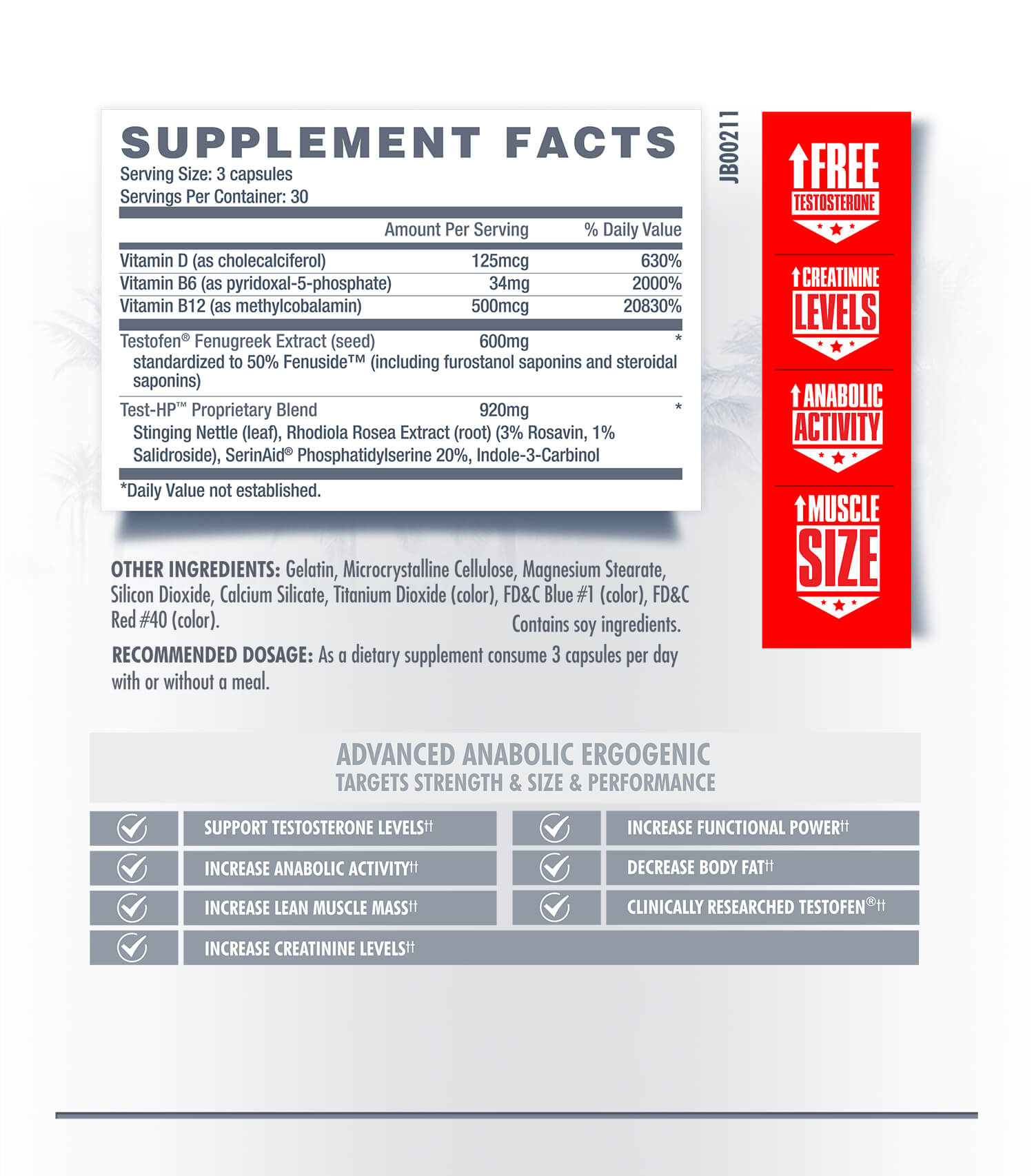 Test HP - Betancourt Nutrition - Testosterone and Performance Enhancer