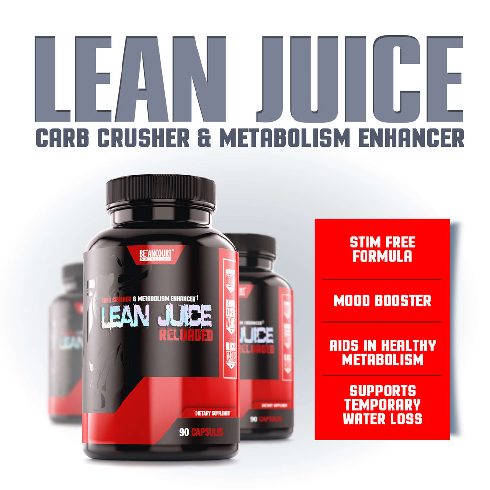 LEAN JUICE <br> CARB CRUSHER & METABOLISM ENHANCER