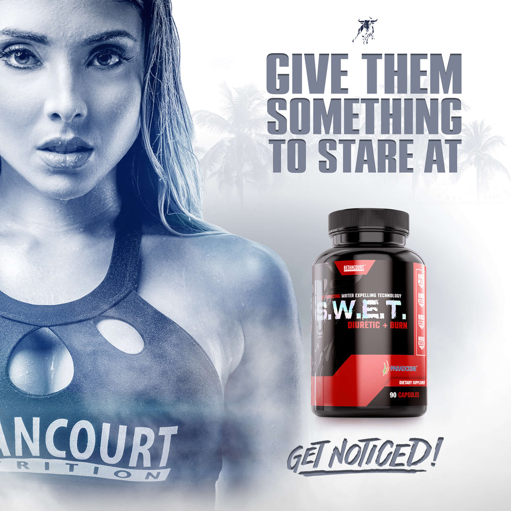 S.W.E.T. <br> SWEAT-INDUCING WATER EXPELLING TECHNOLOGY
