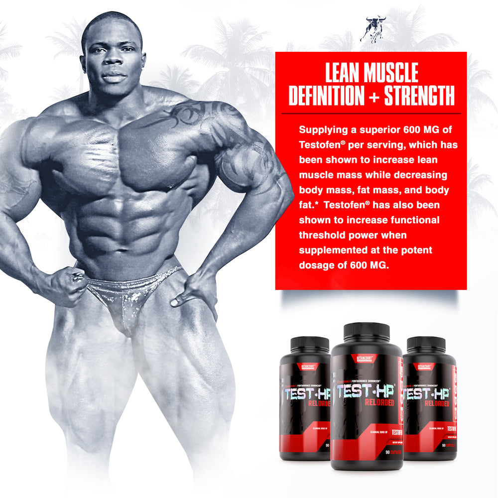 TEST HP <br> TESTOSTERONE & PERFORMANCE ENHANCER