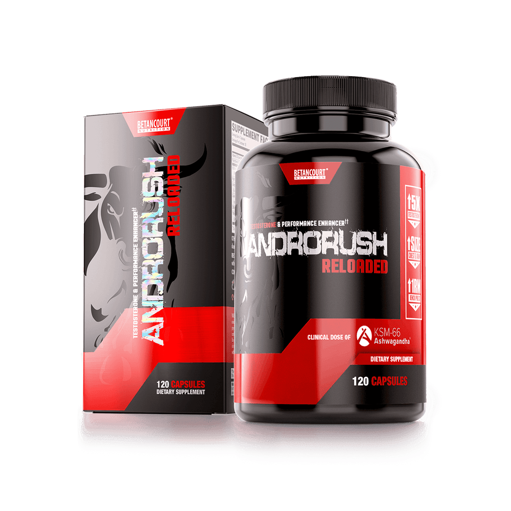 ANDRORUSH 120 SERV <br> TESTOSTERONE & PERFORMANCE ENHANCER