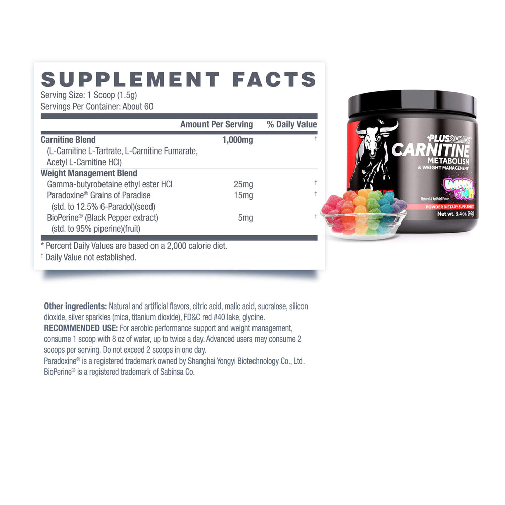 CARNITINE PLUS <br> METABOLISM + WEIGHT MANAGEMENT