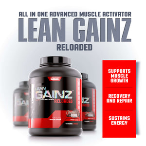 LEAN GAINZ <br> ALL IN ONE ADVANCED MUSCLE ACTIVATOR