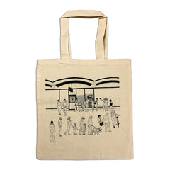 """Barrio Bread Line""  - Natural Tote Bag"