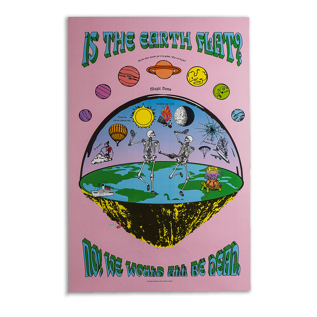 """Flat Earth"" - Cultspiracy Poster"