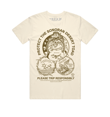 """Protect The Toad"" - Brown on Cream Unisex Tee"