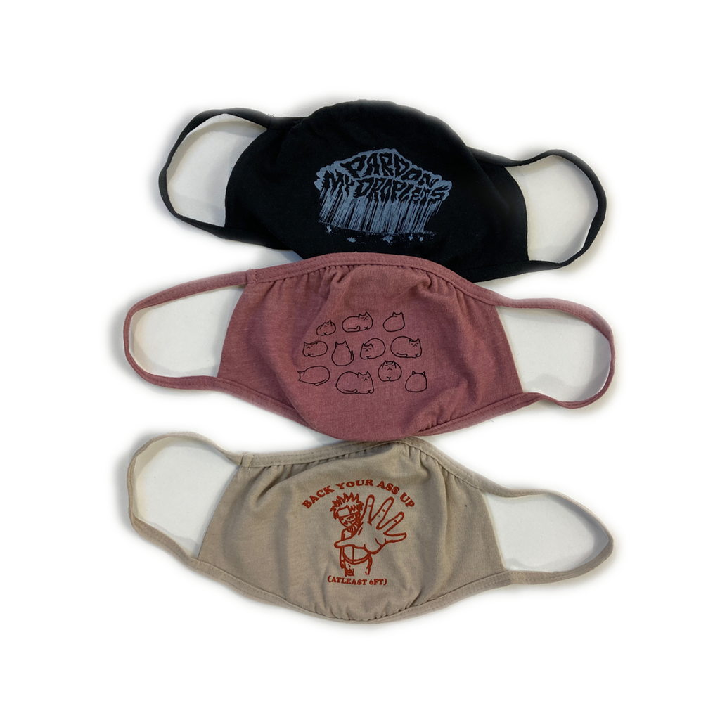 """CREAM Mask collection"" - Black, Mauve, and Tan 2-Ply Reusable Face Masks"