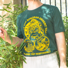 """Protect The Toad"" - Yellow on Hunter Green Unisex Tee"