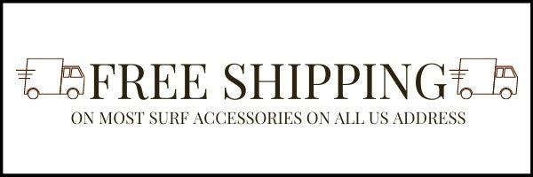 FREE SHIPPING ON ALL SURFING ACCESSORIES HAWAII