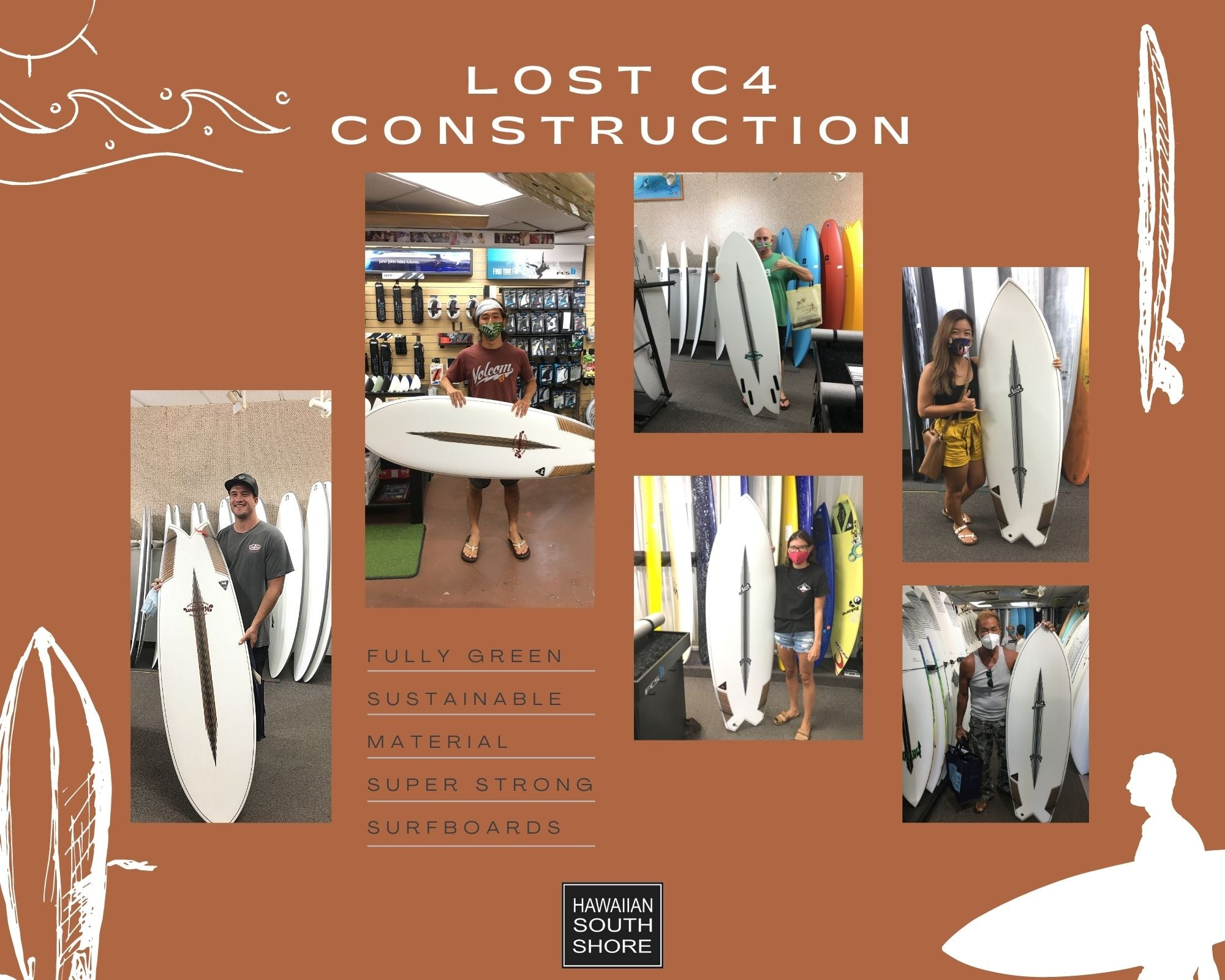 lost c4 construction surfboards