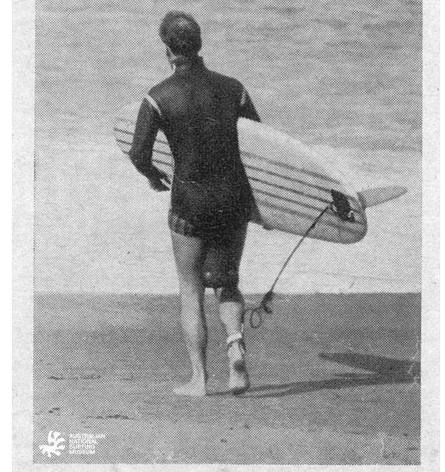Who invented the legrope or surfing leash?