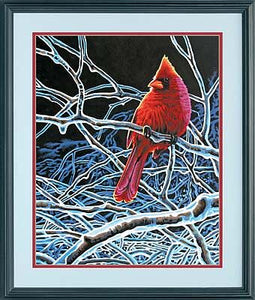 """Ice Cardinal"" PaintWorks Paint-by-Number Kit"