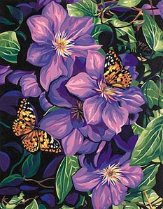 """Clematis & Butterflies"" PaintWorks Paint-by-Number Kit"