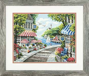 """Cafe by the Sea"" PaintWorks Paint-by-Number Kit"