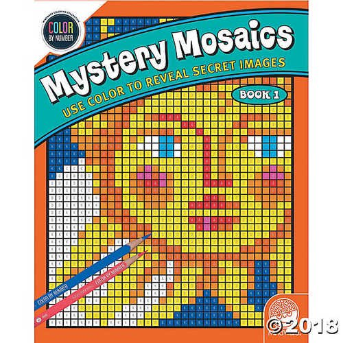 Color by Number Mystery Mosaics