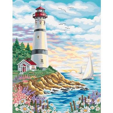 Lighthouse/Sunrise Paint-by-Number Kit