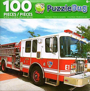 Fire Engine, by Cra Z Art, 100 Pieces Puzzle