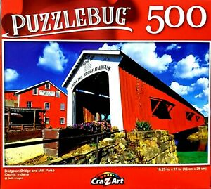 Bridgeon Bridge and Mill Park, 500 Pieces Puzzle