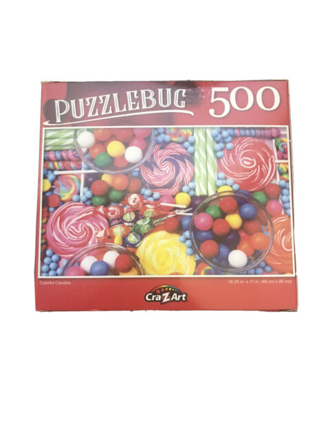 500 Pieces Jigsaw Puzzle Colorful Candy Gumball Lollipop