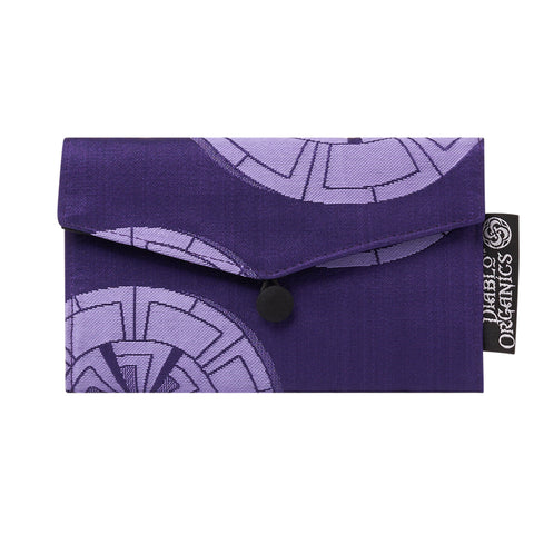 Purple Wheel Recycled Kimono Jewelry Pouch