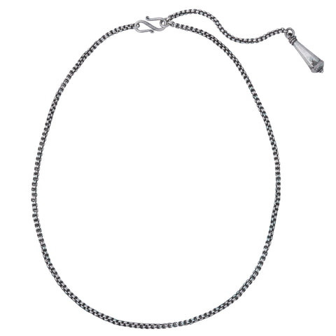 Vintage Silver Chain Charm Necklace