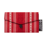 Red & Black Recycled Kimono Jewelry Pouch