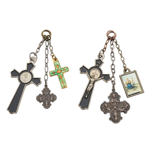 Vintage Silver Crucifix Ear Weights