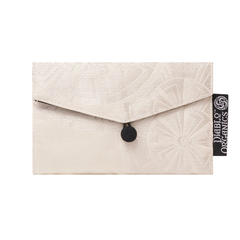 White Wheel Recycled Kimono Jewelry Pouch