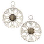 White Brass Goldsheen Essence Medallion Ear Weights