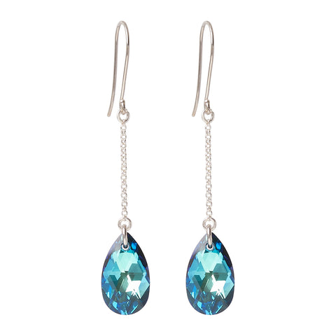 Swarovski Bermuda Blue Tear Drop Earrings