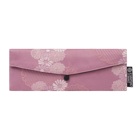 Lavender Flower Recycled Kimono Jewelry Pouch