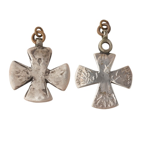 Vintage Silver Ethiopian Christian Cross Ear Weights