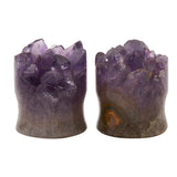 Amethyst Druzy Double Flared Plugs