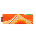 Orange, Gold, White, Green Flower Recycled Kimono Jewelry Pouch