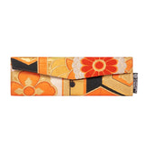 Orange, Black, Gold, Floral Recycled Kimono Jewelry Pouch