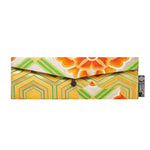 Green, Orange, Floral Recycled Kimono Jewelry Pouch