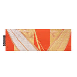 Orange, Gold & Silver Bamboo Recycled Kimono Jewelry Pouch